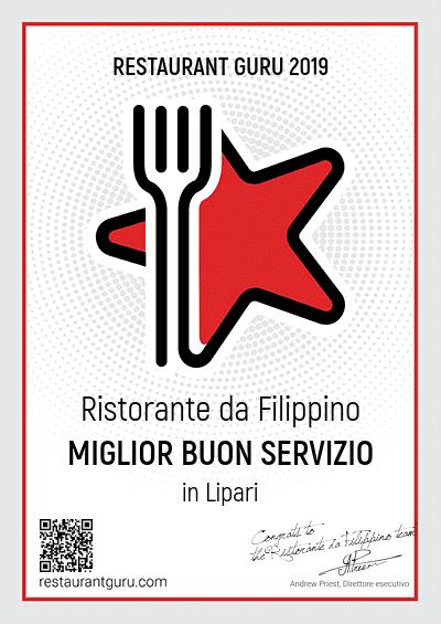 certificato-eccellenza-ristorante-filippino-lipari